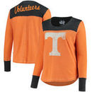 Tennessee Volunteers Touch by Alyssa Milano Women's Plus Size Blindside Burnout Long Sleeve Thermal T-Shirt - Tennessee Orange