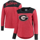 Georgia Bulldogs Touch by Alyssa Milano Women's Plus Size Blindside Burnout Long Sleeve Thermal T-Shirt - Red