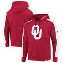 Oklahoma Sooners Fanatics Branded Iconic Colorblocked Fleece Pullover Hoodie - Crimson