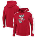 Wisconsin Badgers Fanatics Branded Iconic Colorblocked Fleece Pullover Hoodie - Red