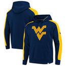 West Virginia Mountaineers Fanatics Branded Iconic Colorblocked Fleece Pullover Hoodie - Navy