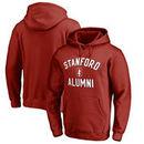 Stanford Cardinal Fanatics Branded Team Alumni Pullover Hoodie - Cardinal