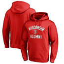 Wisconsin Badgers Fanatics Branded Team Alumni Pullover Hoodie - Red