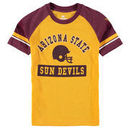 Arizona State Sun Devils Colosseum Youth All Pro Raglan Sleeve T-Shirt - Gold/Maroon