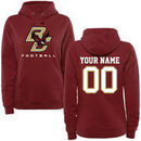 Boston College Eagles Fanatics Branded Women's Personalized Football Pullover Hoodie - Maroon
