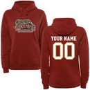 Lafayette College Leopards Fanatics Branded Women's Personalized Football Pullover Hoodie - Cardinal