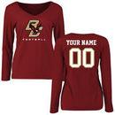 Boston College Eagles Fanatics Branded Women's Personalized Football Long Sleeve T-Shirt - Maroon