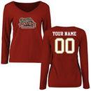 Lafayette College Leopards Fanatics Branded Women's Personalized Football Long Sleeve T-Shirt - Cardinal