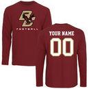 Boston College Eagles Fanatics Branded Personalized Football Long Sleeve T-Shirt - Maroon