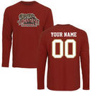 Lafayette College Leopards Fanatics Branded Personalized Football Long Sleeve T-Shirt - Cardinal