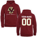 Boston College Eagles Fanatics Branded Personalized Football Pullover Hoodie - Maroon