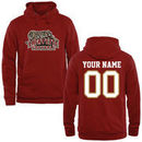 Lafayette College Leopards Fanatics Branded Personalized Football Pullover Hoodie - Cardinal