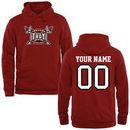 Troy University Trojans Fanatics Branded Personalized Basketball Pullover Hoodie - Cardinal