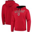 Ohio State Buckeyes End Zone Wordmark Pullover Hoodie - Scarlet/Black