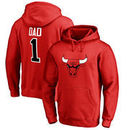 Chicago Bulls Fanatics Branded Big & Tall #1 Dad Pullover Hoodie - Red