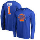New York Knicks Fanatics Branded Big & Tall #1 Dad Long Sleeve T-Shirt - Royal
