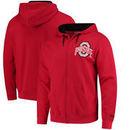 Ohio State Buckeyes Left Chest Full-Zip Hoodie - Scarlet