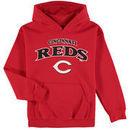 Cincinnati Reds Stitches Youth Team Fleece Pullover Hoodie - Red