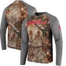 Louisville Cardinals Colosseum Buck Raglan Long Sleeve T-Shirt - Realtree® Camo/Charcoal