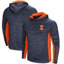 Illinois Fighting Illini Colosseum Upstart Long Sleeve Hooded T-Shirt - Heathered Navy