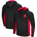 Nebraska Cornhuskers Colosseum Upstart Long Sleeve Hooded T-Shirt - Heathered Black