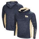 Pitt Panthers Colosseum Upstart Long Sleeve Hooded T-Shirt - Heathered Navy