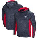 UConn Huskies Colosseum Upstart Long Sleeve Hooded T-Shirt - Heathered Navy