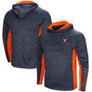 Virginia Cavaliers Colosseum Upstart Long Sleeve Hooded T-Shirt - Heathered Navy