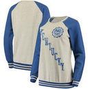 Kentucky Wildcats Pressbox Women's Sundown Vintage Pullover Sweatshirt - Cream/Royal