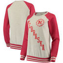 Nebraska Cornhuskers Pressbox Women's Sundown Vintage Pullover Sweatshirt - Cream/Scarlet