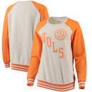 Tennessee Volunteers Pressbox Women's Sundown Vintage Pullover Sweatshirt - Cream/Tennessee Orange