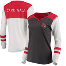 Louisville Cardinals Pressbox Women's Mia Henley Long Sleeve T-Shirt – Charcoal/Red