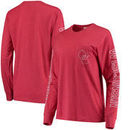 Wisconsin Badgers Pressbox Women's Mystic Pocket Long Sleeve T-Shirt – Red