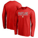 Maryland Terrapins Fanatics Branded True Sport Baseball Long Sleeve T-Shirt - Red