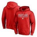 Maryland Terrapins Fanatics Branded True Sport Baseball Pullover Hoodie - Red