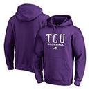 TCU Horned Frogs Fanatics Branded True Sport Baseball Pullover Hoodie - Purple
