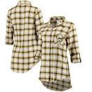 Pittsburgh Penguins Women's Forge Long Sleeve Nightshirt - Black/Gold