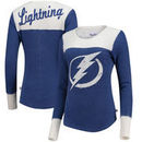 Tampa Bay Lightning Touch by Alyssa Milano Women's Blindside Thermal Long Sleeve Tri-Blend T-Shirt – Royal