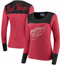 Detroit Red Wings Touch by Alyssa Milano Women's Blindside Thermal Long Sleeve Tri-Blend T-Shirt – Red