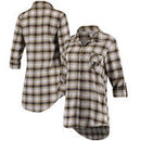 Purdue Boilermakers Concepts Sport Women Forge Rayon Flannel Long Sleeve Button-Up Shirt - Black/Gold