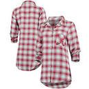 Alabama Crimson Tide Concepts Sport Women Forge Rayon Flannel Long Sleeve Button-Up Shirt - Crimson/Gray