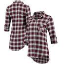 Virginia Tech Hokies Concepts Sport Women Forge Rayon Flannel Long Sleeve Button-Up Shirt - Maroon/Black