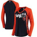 Chicago Bears Hands High Women's Stadium Long Sleeve T-Shirt - Navy