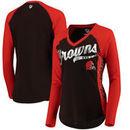 Cleveland Browns Hands High Women's Stadium Long Sleeve T-Shirt - Brown