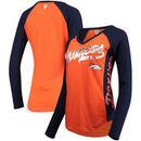 Denver Broncos Hands High Women's Stadium Long Sleeve T-Shirt - Orange