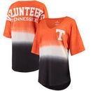 Tennessee Volunteers Women's Ombre V-Neck Spirit Jersey T-Shirt - Tennessee Orange/Gray