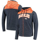 Denver Broncos Antigua Exertion Full-Zip Hoodie - Navy/Orange