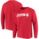 Louisville Cardinals adidas Basketball Practice climalite Long Sleeve T-Shirt - Red