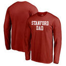 Stanford Cardinal Fanatics Branded Big & Tall Team Dad Long Sleeve T-Shirt - Cardinal
