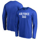 Air Force Falcons Fanatics Branded Team Dad Long Sleeve T-Shirt - Royal
